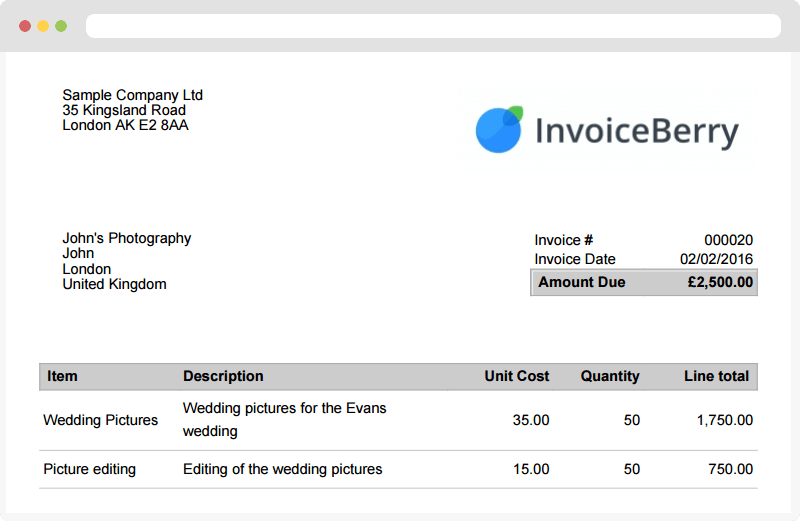 Ultrablogus  Pleasing Online Invoicing Software For Small Businesses And Freelancers  With Outstanding Invoice Created With Online Invoicing Software Invoiceberry With Cute Example Invoices Also Tax Invoice Template In Addition Ford Invoice And Invoice Approval Workflow As Well As Paypal Invoice Buyer Protection Additionally Invoice Price Honda Crv From Invoiceberrycom With Ultrablogus  Outstanding Online Invoicing Software For Small Businesses And Freelancers  With Cute Invoice Created With Online Invoicing Software Invoiceberry And Pleasing Example Invoices Also Tax Invoice Template In Addition Ford Invoice From Invoiceberrycom