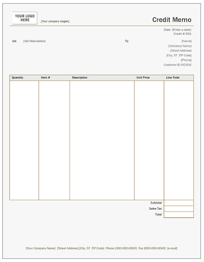 Free Credit Note Templates InvoiceBerry - Credit invoice template