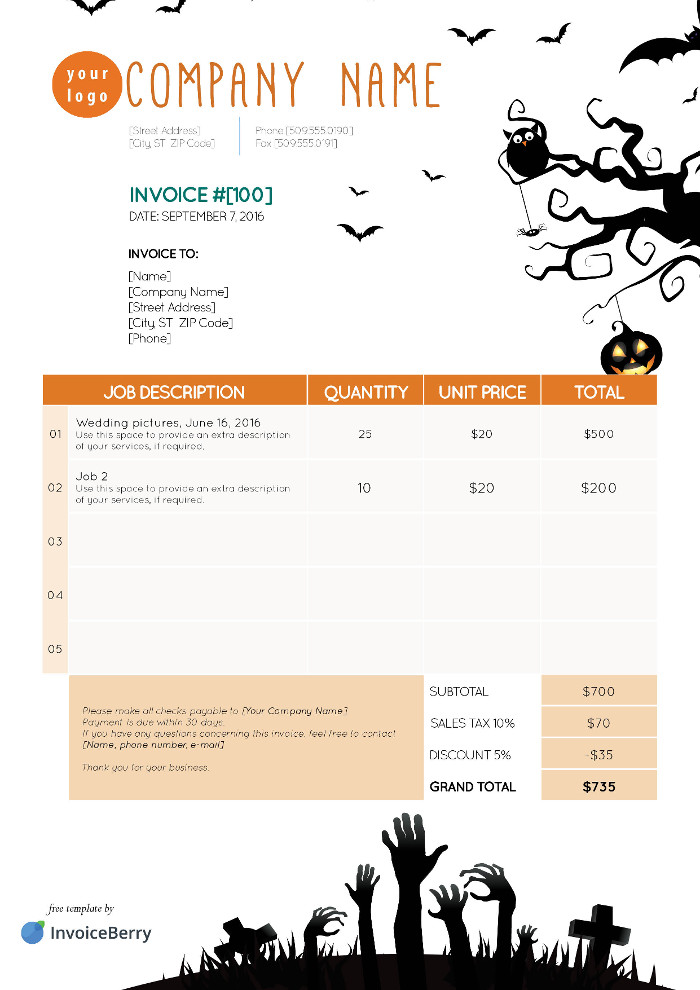 Free Indesign Invoice Templates  Invoiceberry