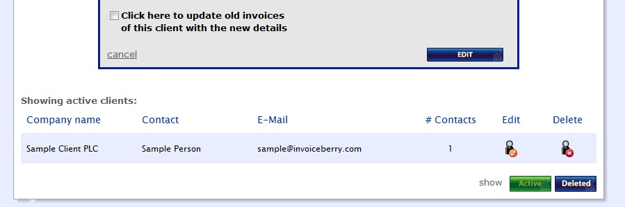 Click here to update old invoices of this client with the new details!