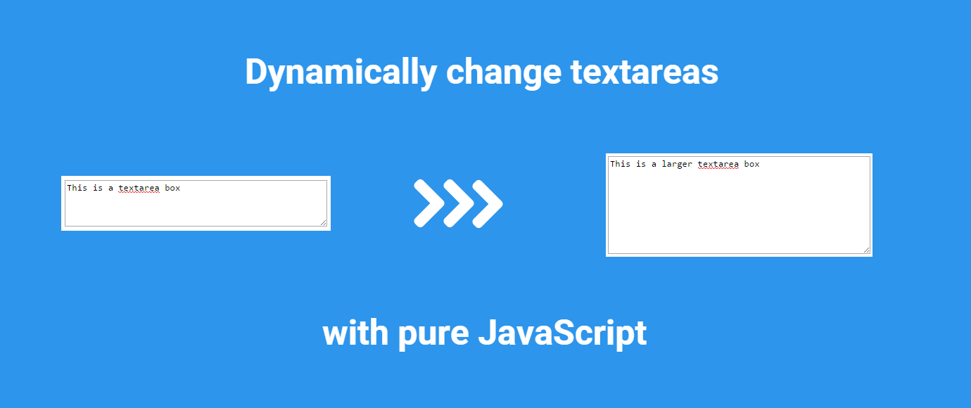 Dynamically change HTML textarea boxes with pure JavaScript
