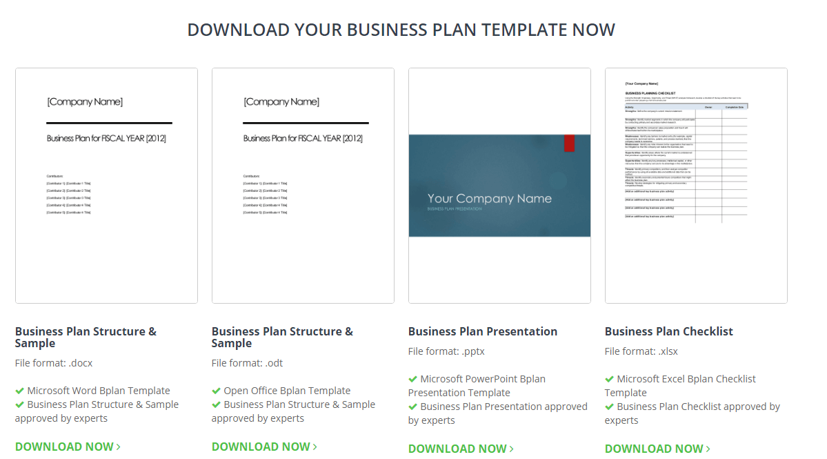Check out our site to get a whole host of free business plan templates today