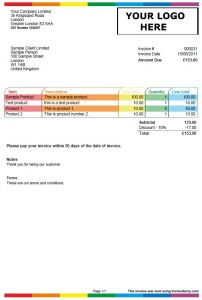 new invoice template: colour play | invoiceberry blog, Invoice examples