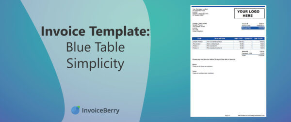 This Blue Table Simplicity will help you create organized, professional invoices
