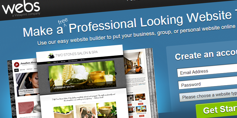 Webs Online Website Builder