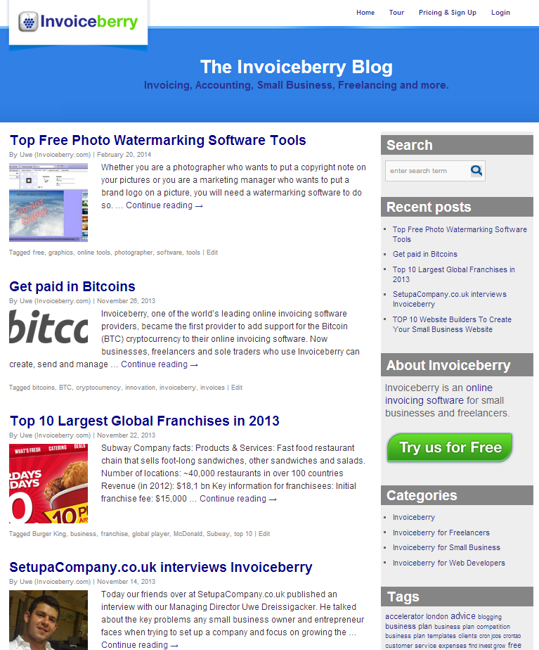 Invoiceberry Blog (old version)