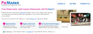 PicMarkr watermark online tool