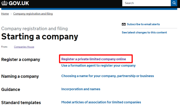 Companies House - Register a company