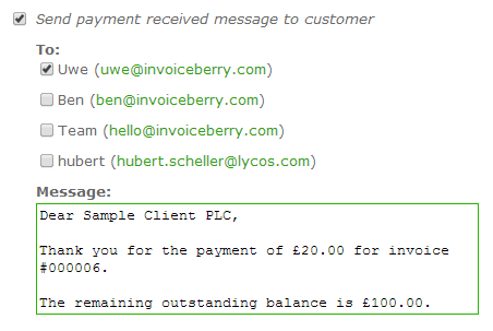 Payment Received Messages Say Thank You To Your Customers - Invoice email to client