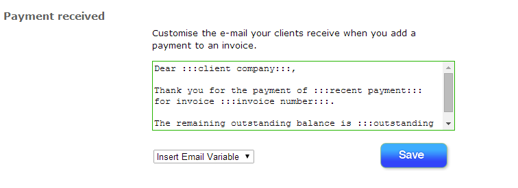 Payment Received Messages Say Thank You To Your Customers - Invoice message to client