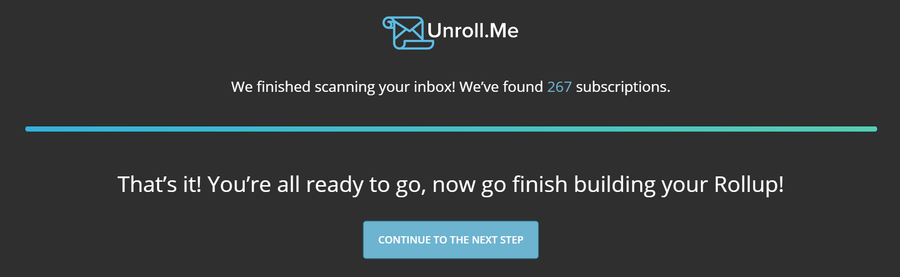 Unsubscribe from email newsletters