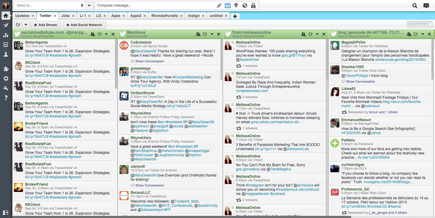 Hootsuite social media manager for working at home