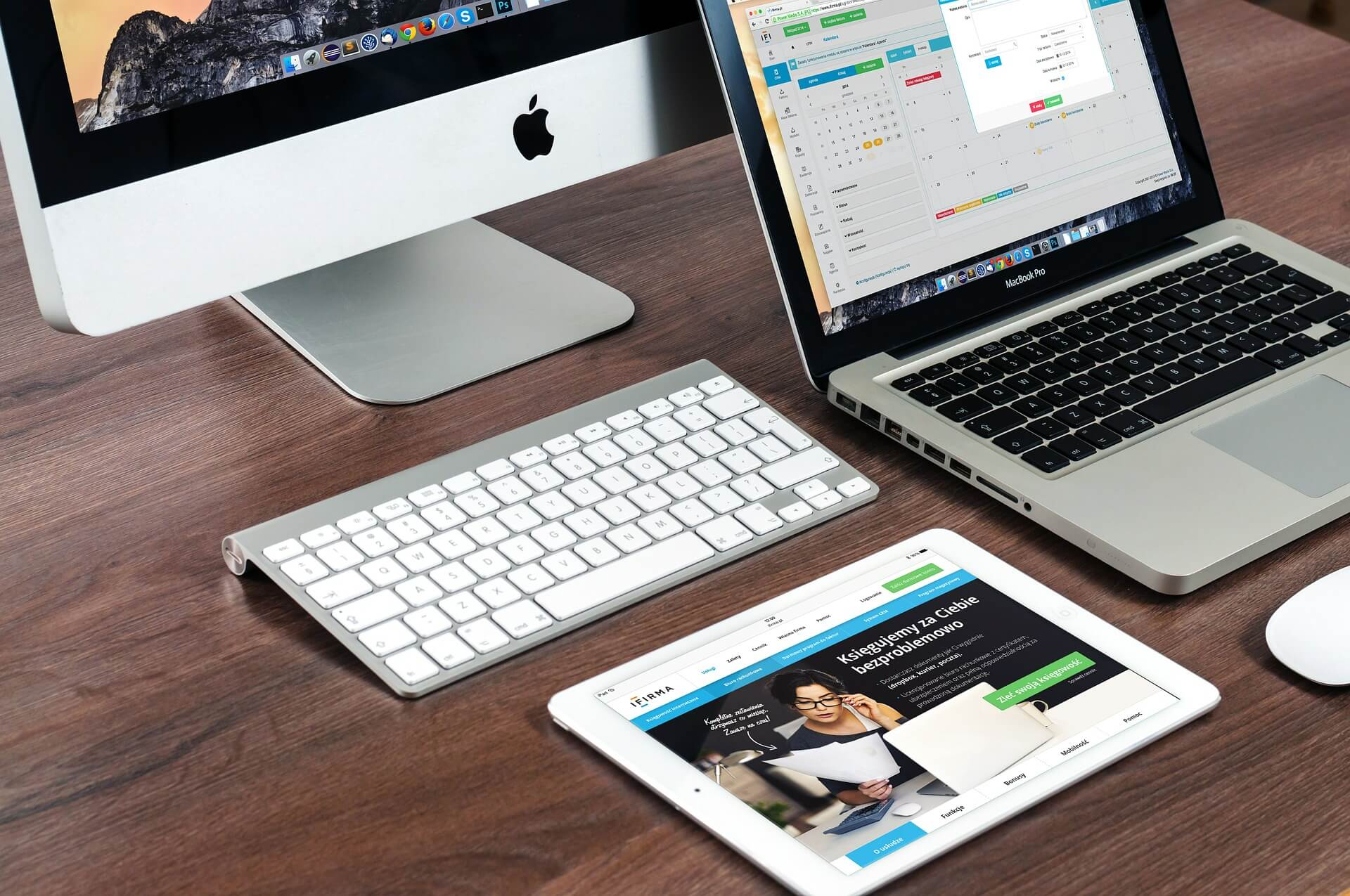 Apple: macbook, imac, ipad can be used for small business