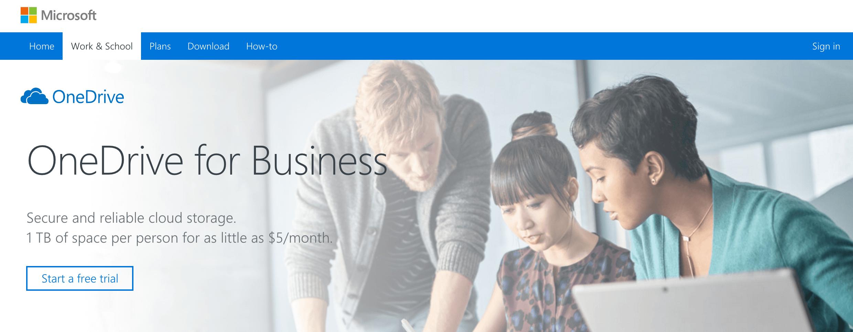 Microsoft Onedrive cloud storage service