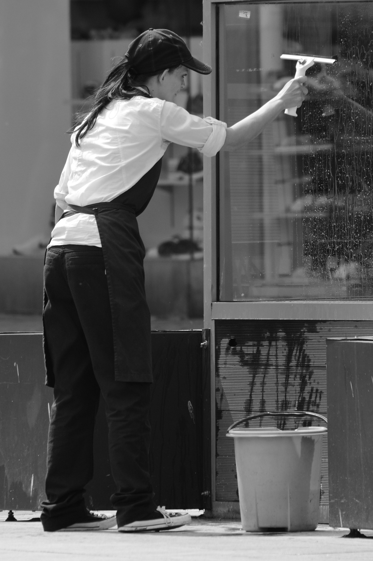 Self-employed as a window cleaner