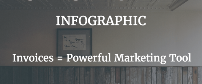 infographic about invoicing as powerful and effective marketing toola