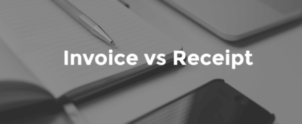 Differences between invoices and receipts
