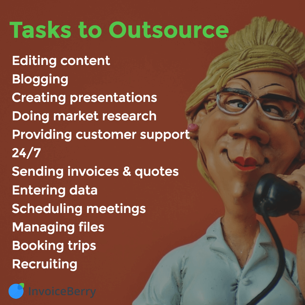 A list of tasks that can be outsourced to your virtual personal assistant
