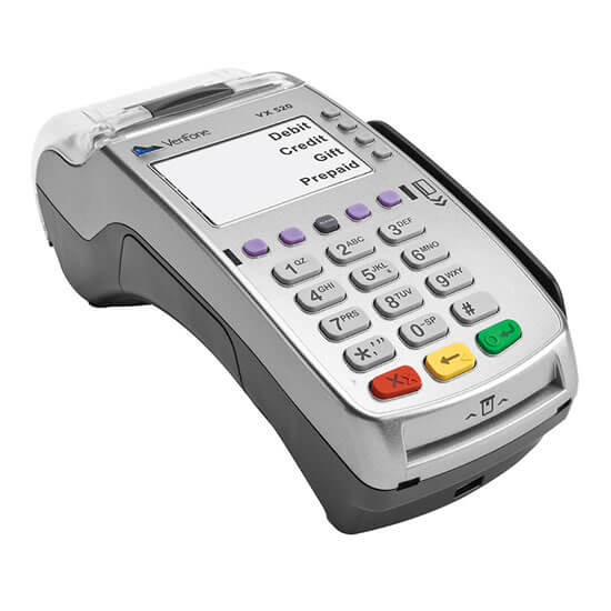Countertop/traditional credit card machine processor for small business