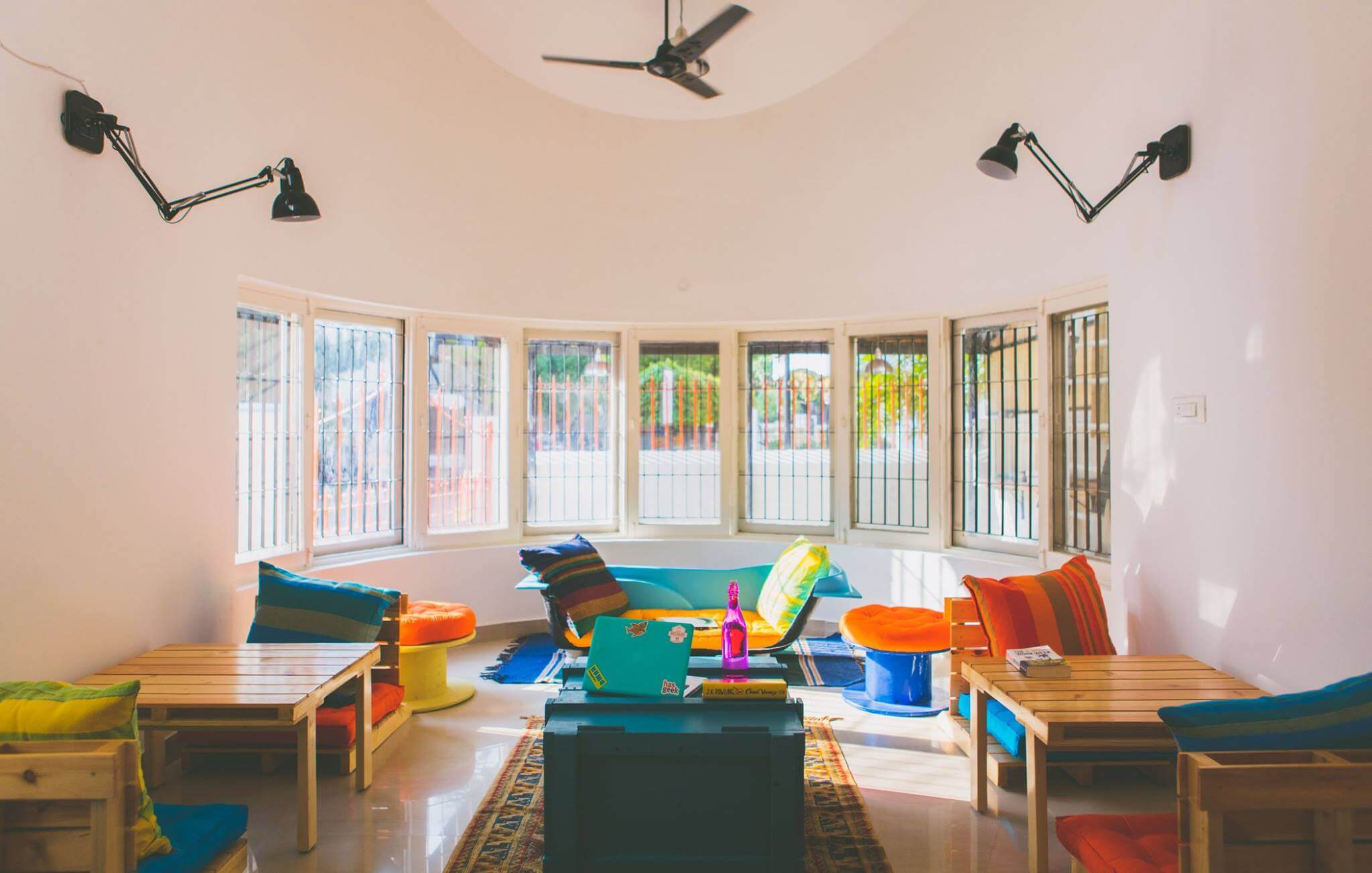 Construkt is a hostel-cum-coworking space for those traveling entrepreneurs