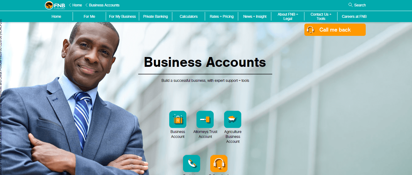 FNB offers great conditions for small business bank accounts