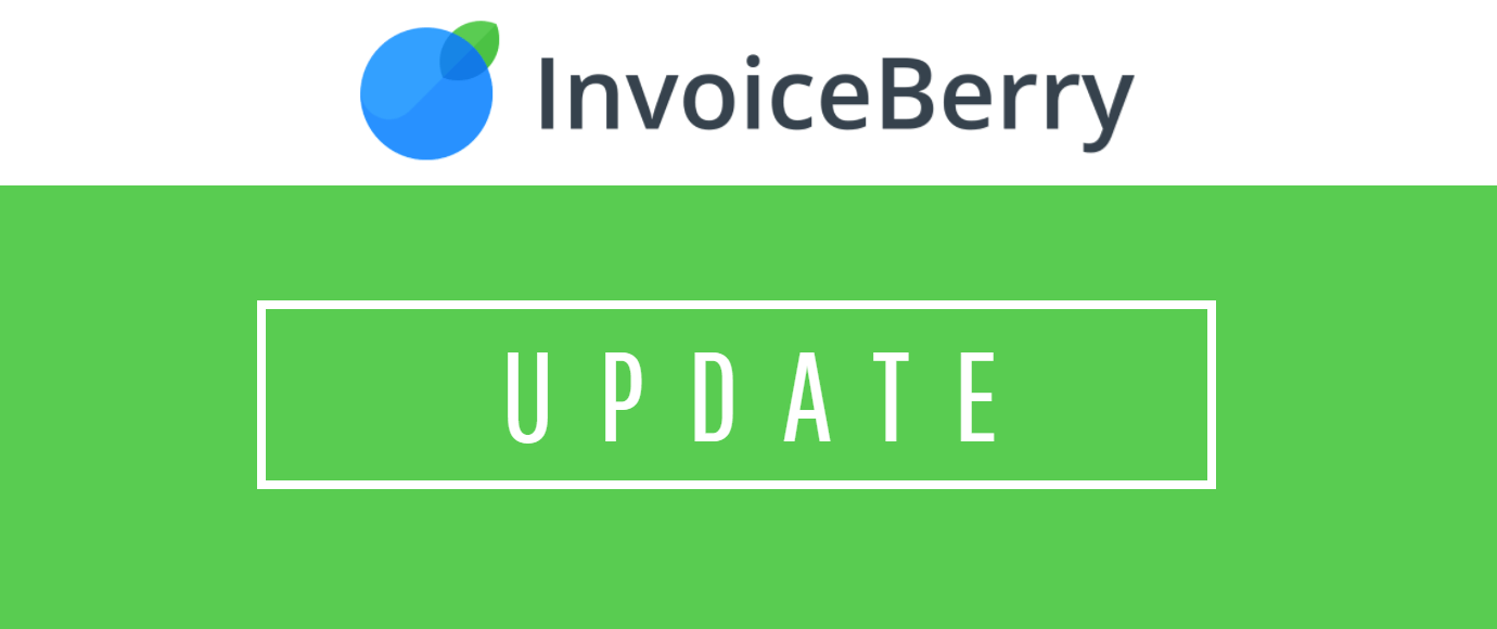 Check out our newest InvoiceBerry update