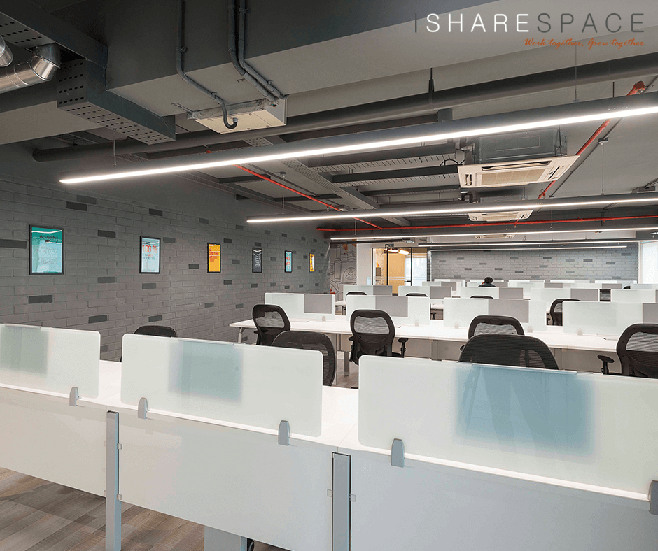IShareSpace is a contemporary coworking space located in Prestige Towers in the the heart of Bangalore's Central Business District