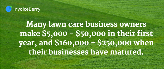 The earnings potential for the lawn care business is quite large