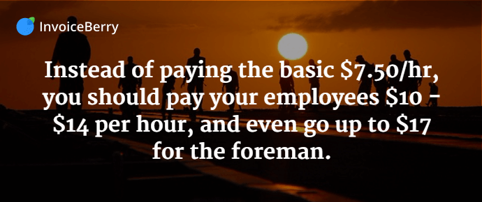 It's important, if you want to get the best employees, to pay them a competitive rate