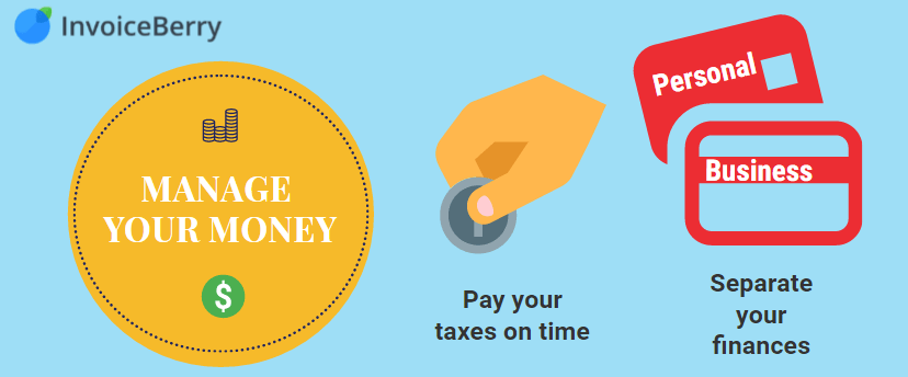 Manage your money by paying local taxes and separating finances
