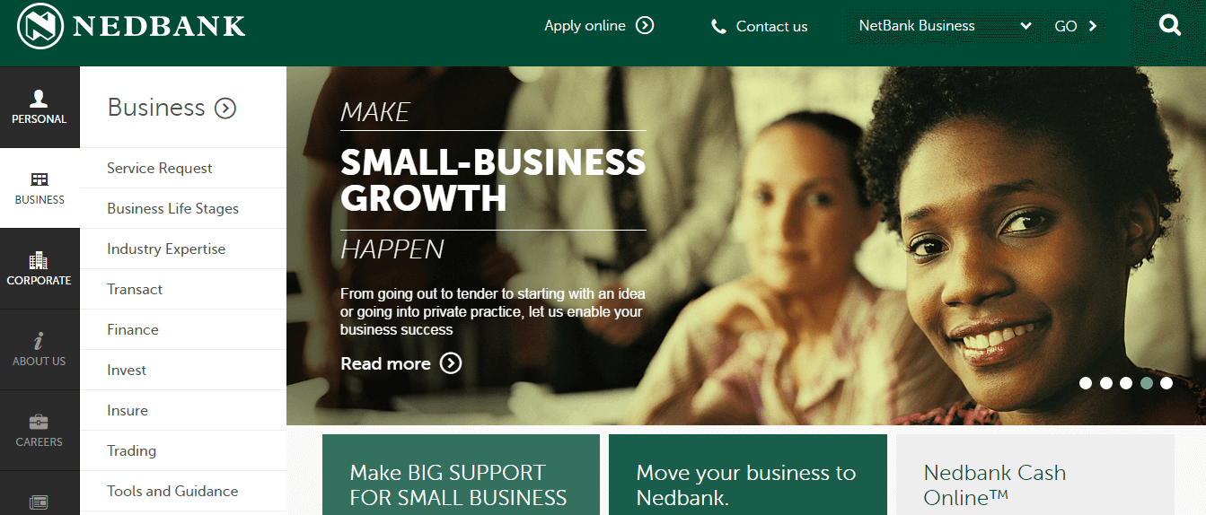 Nedbank offers good, though not great, banking conditions for small businesses in SA