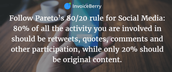 Follow the Pareto principle to help manage your social media content