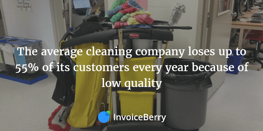 Cleaning companies lose 55% of their customers each year because they don't offer appropriate services