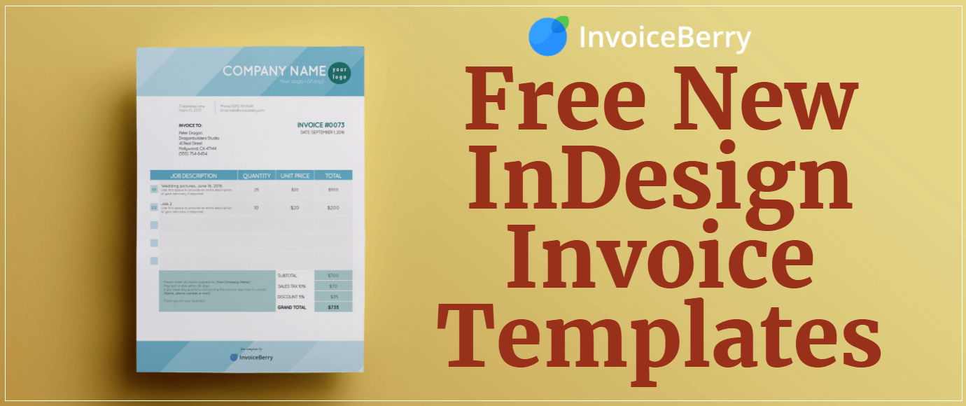 Free New InDesign Invoice Templates | InvoiceBerry Blog
