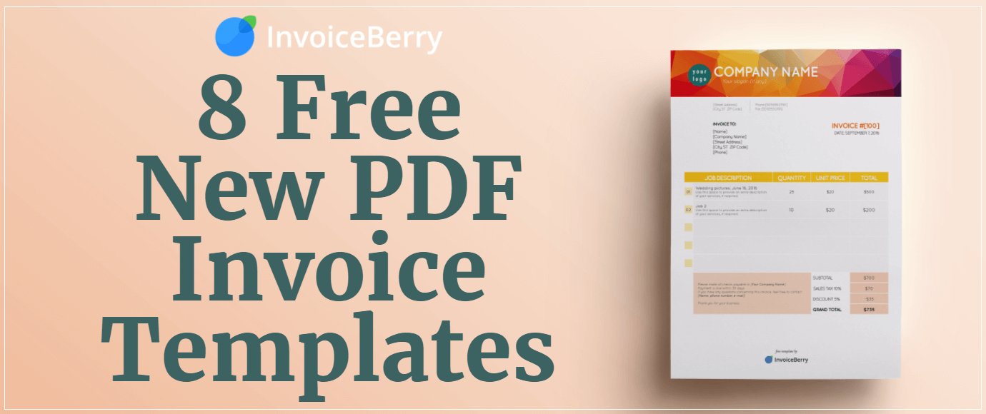 Free New PDF Invoice Templates InvoiceBerry Blog - Invoice template pdf