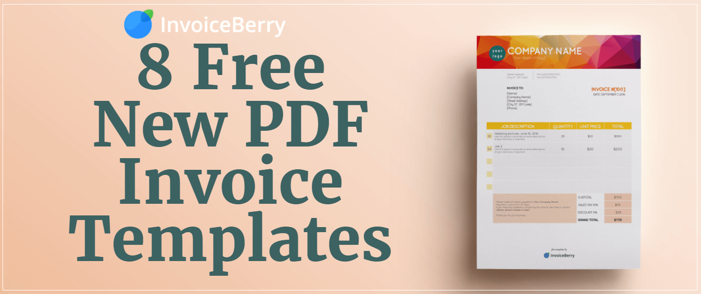 Our free new PDF invoice templates are editable, professional and great for presenting your individuality and professionalism