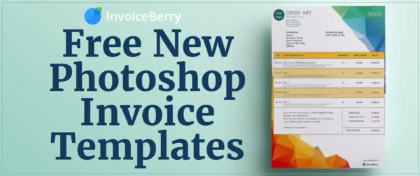 Check out our all new, free Photoshop invoice templates