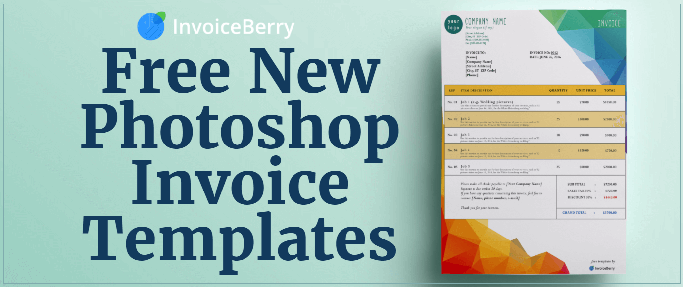 Free New Photoshop Invoice Templates InvoiceBerry Blog - Free creative invoice template cheap online stores
