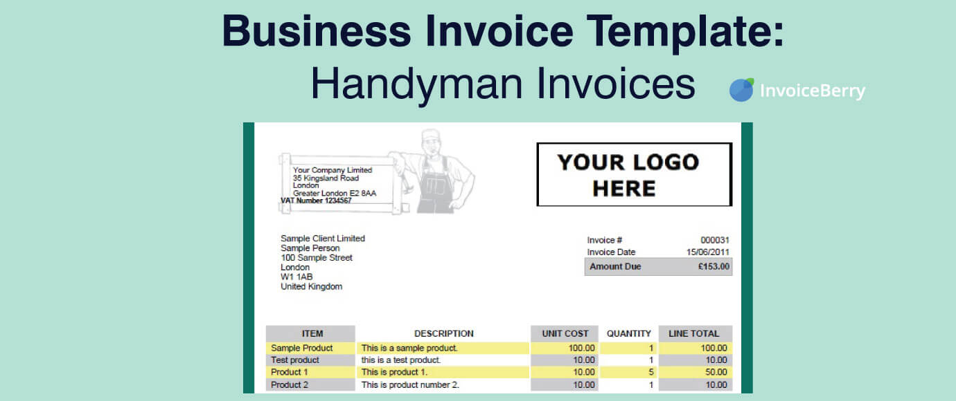 Business Invoice Template: Handymen Invoices  Business Invoices
