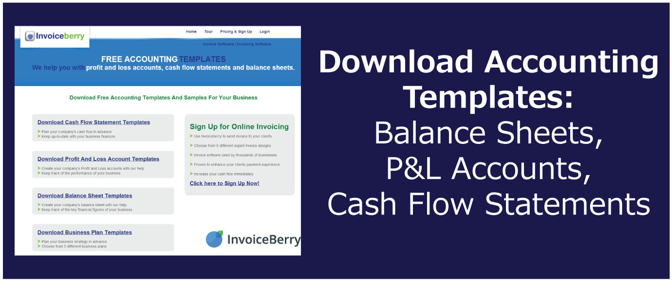 Download Accounting Templates Balance Sheets P L Accounts Cash