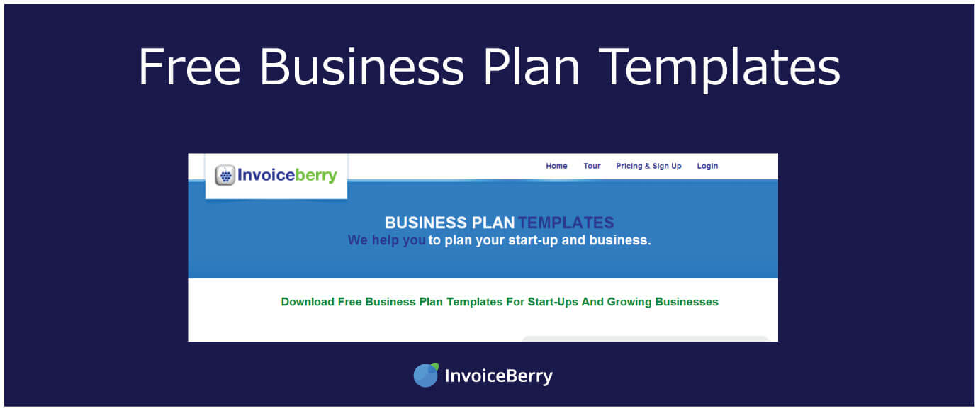 Free Business Plan Templates InvoiceBerry Blog - Online business plan template