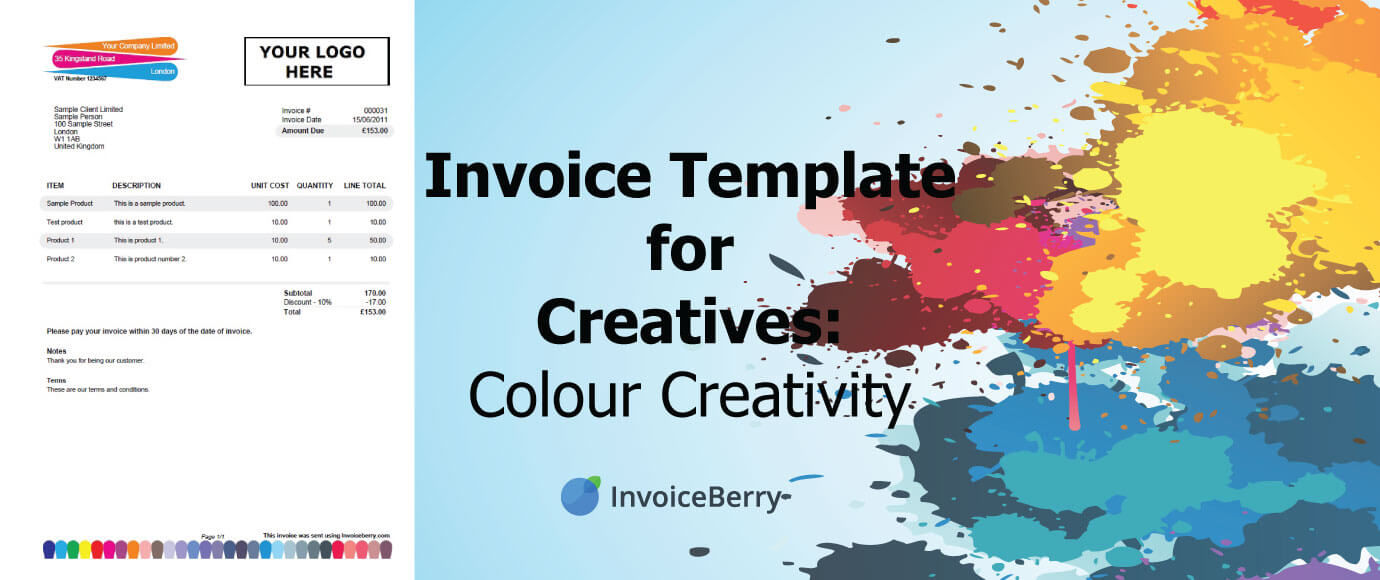 We are pleased to present our new invoice template for creatives: Colour Creativity