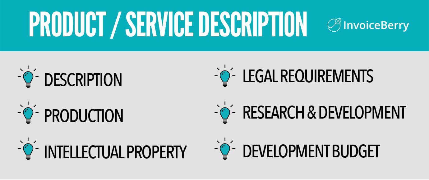 Product/service description: key points