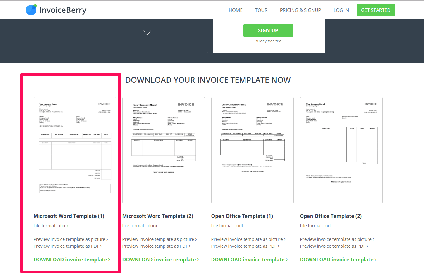 Google Apps Invoicing Excel What Is An Invoice And How Can I Make One  Invoiceberry Blog Blank Invoice Template Printable Excel with Sample Invoices Word Head Over To Our Invoice Download Page To Use Your Invoice Template In  Microsoft Word Invoice Journal Entry
