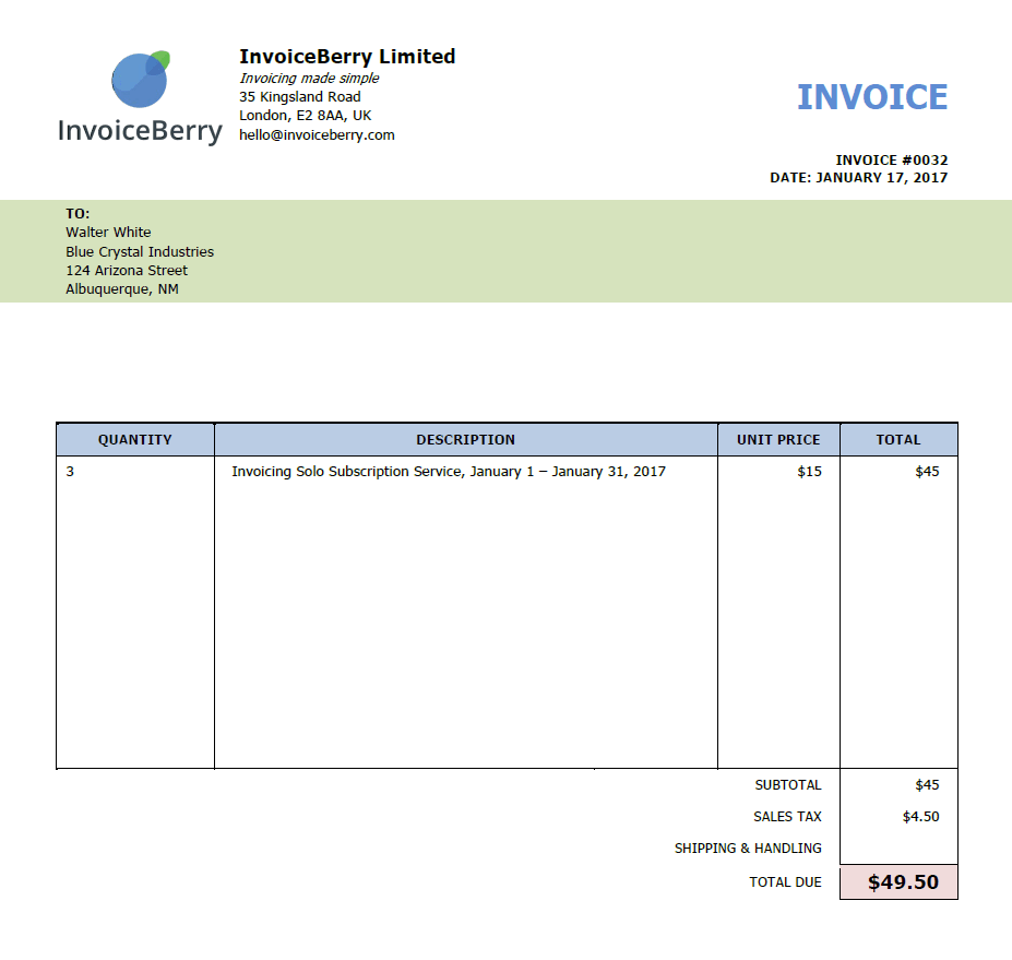 What Is An Invoice And How Can I Make One InvoiceBerry Blog - Ms word custom invoice template for service business