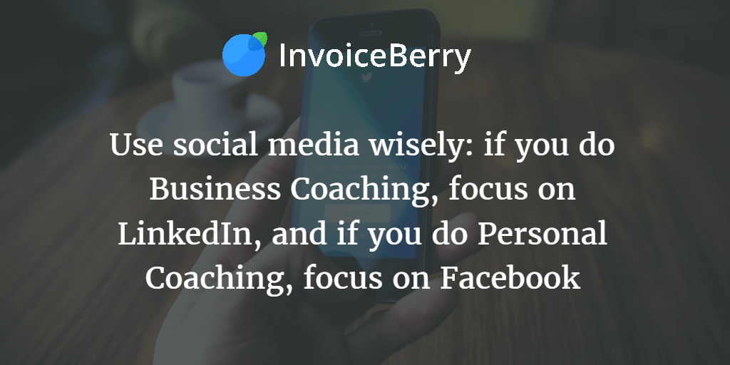 Use different social media platforms for different purposes