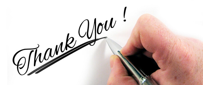 Easily add a thank you note to your invoices