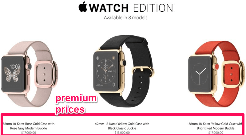 Premium pricing makes products look exclusive and high-quality by giving it a high price