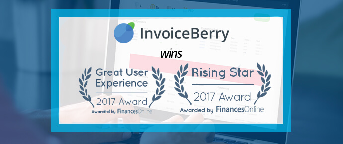 InvoiceBerry has proudly won two awards from FinancesOnline