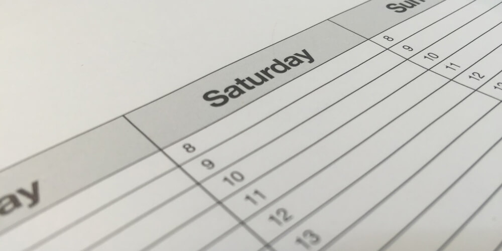 Always set a schedule for the day or week to maximize your productivity